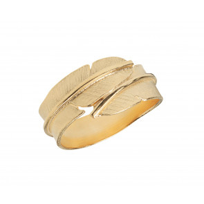 Heiring - Ring - Feather - Small - Forgyldt