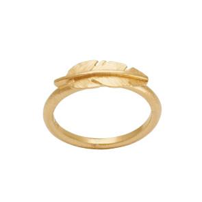 Heiring - Ring - Feather - Mini - Forgyldt