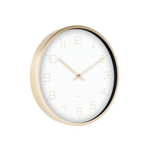 KARLSSON - WALL CLOCK GOLD ELEGANCE WHITE