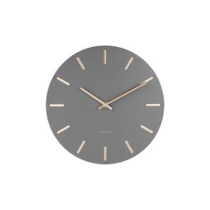 KARLSSON - WALL CLOCK CHARM STEEL GREY